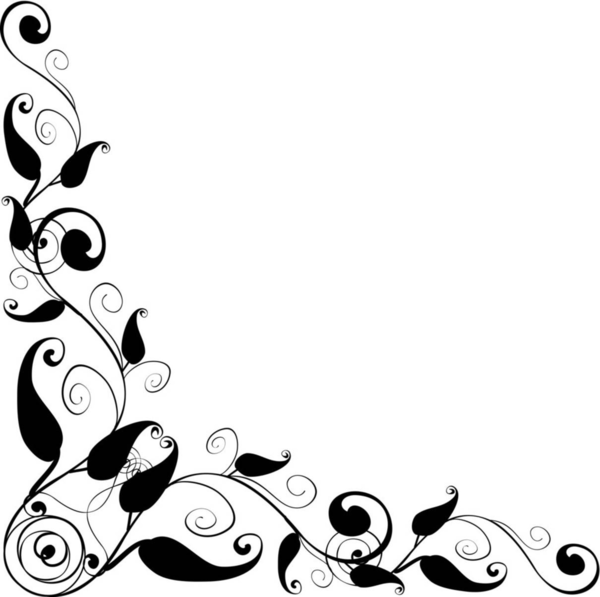 40 simple flower border designs to draw . Free cliparts that you can ...