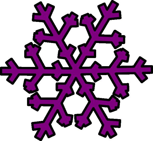 Purple Snowflake clip art - vector clip art online, royalty free ...