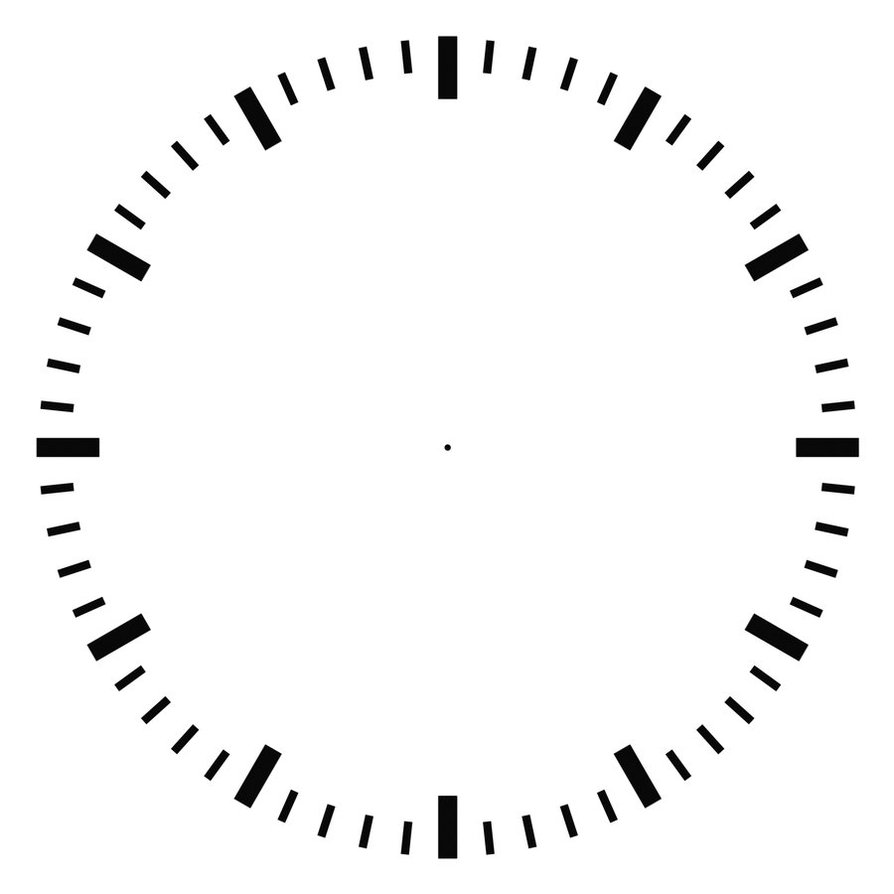 Blank Clock Faces ClipArt Best – Clock Face Template