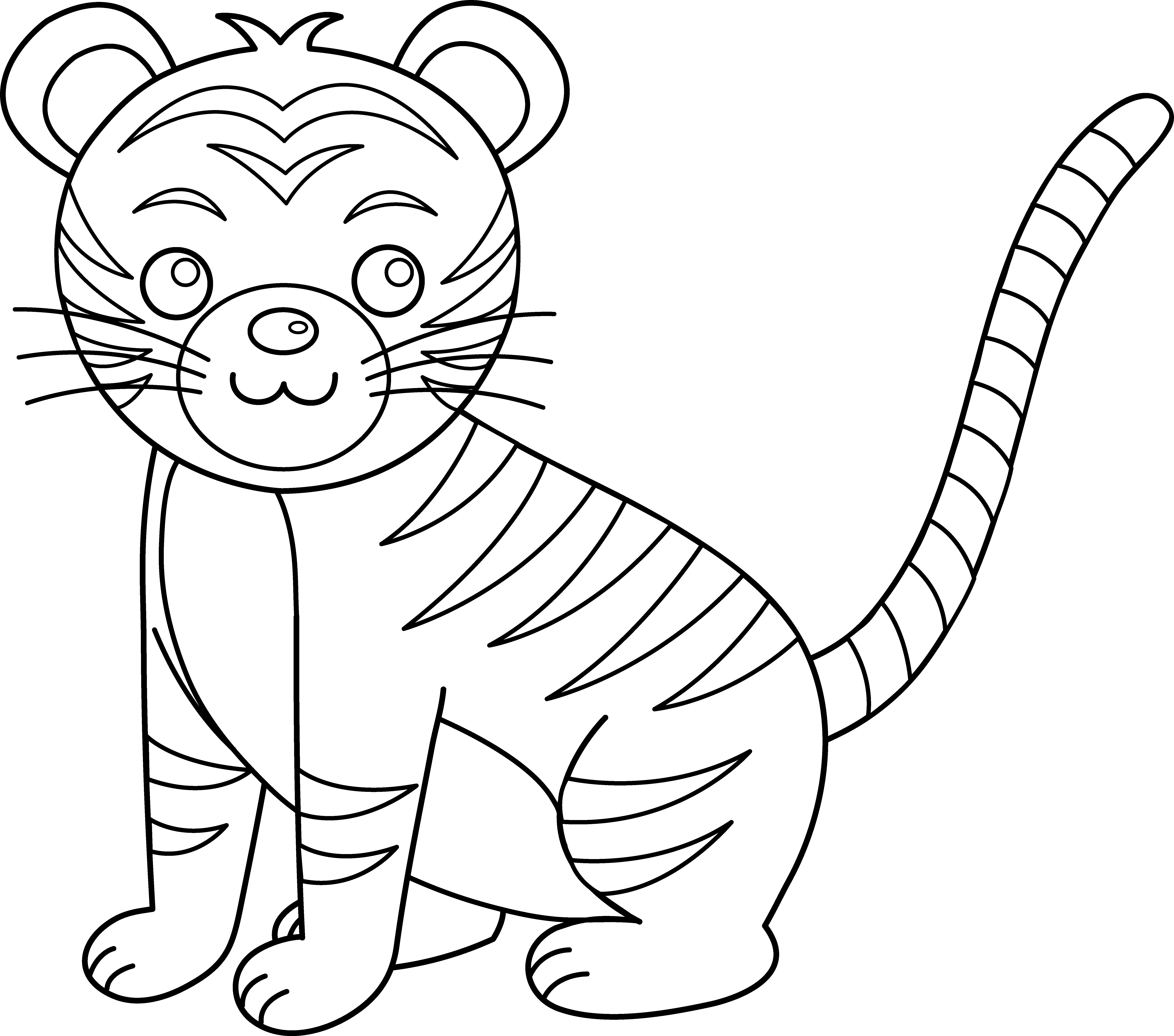 tiger coloring pages cartoon - photo#20