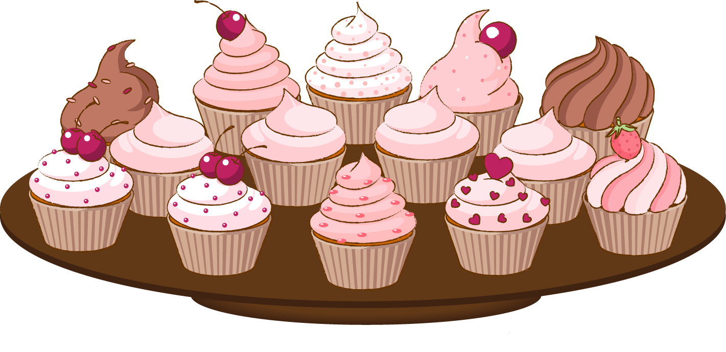 Cupcake Clipart Border - ClipArt Best