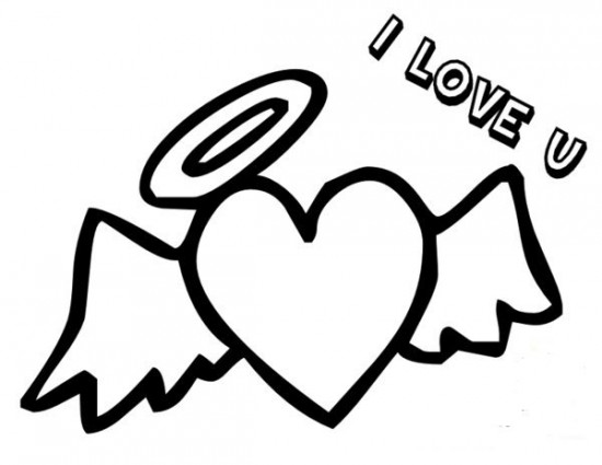 free heart with wing coloring pages | Heart With Wings Coloring Pages to Print Image / All About ...