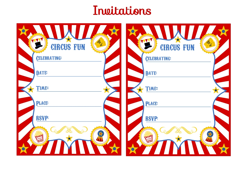 Free Printable Kids Circus Party Invitation - ClipArt Best