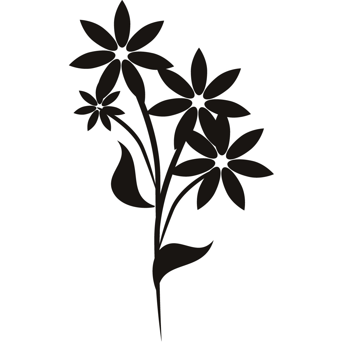 Floral Flower Wall Art Decals Wall Stickers Transfers