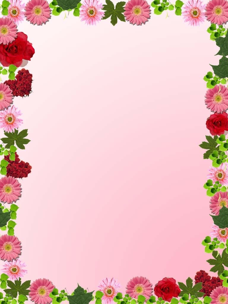 simple flower frame clipart best