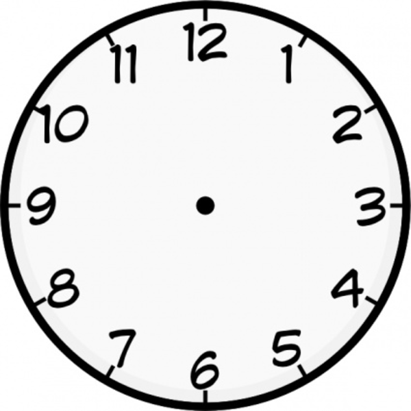 Analog Clock Without Hands - ClipArt Best
