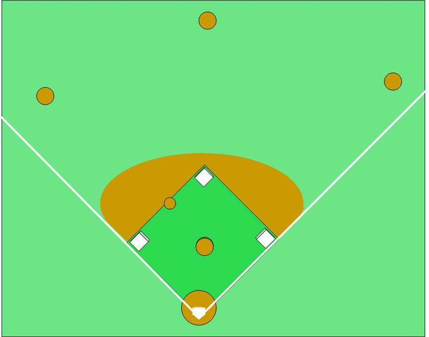 This is an image of Massif Printable Baseball Field
