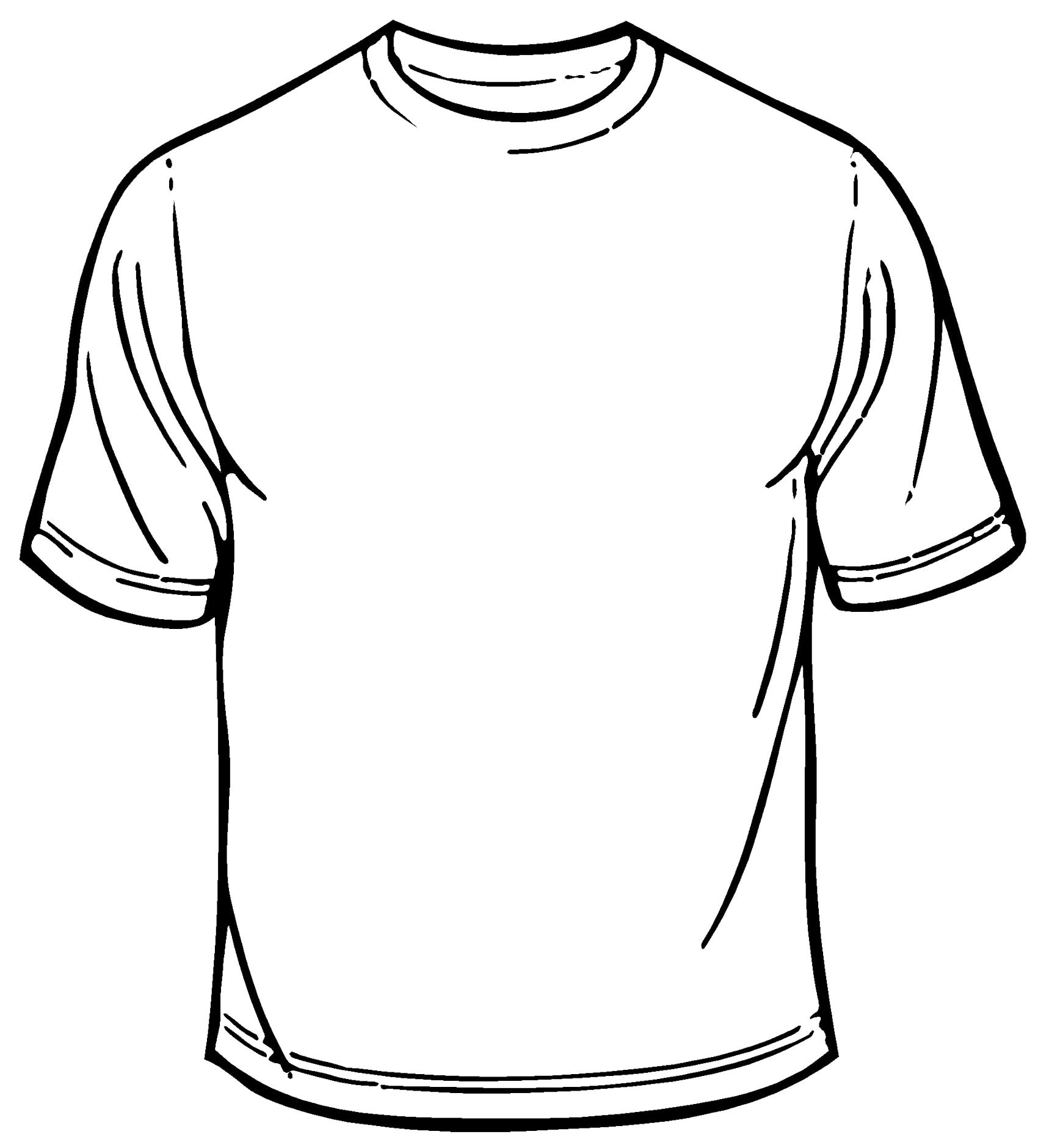 T Shirt Outline Printable Clipart Best