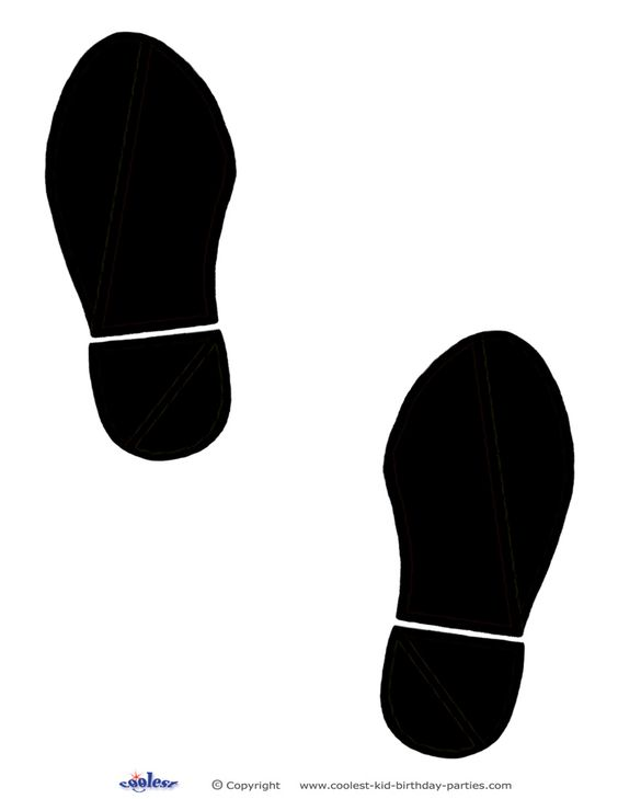 photograph regarding Footprint Printable named Printable Footprints - ClipArt Suitable