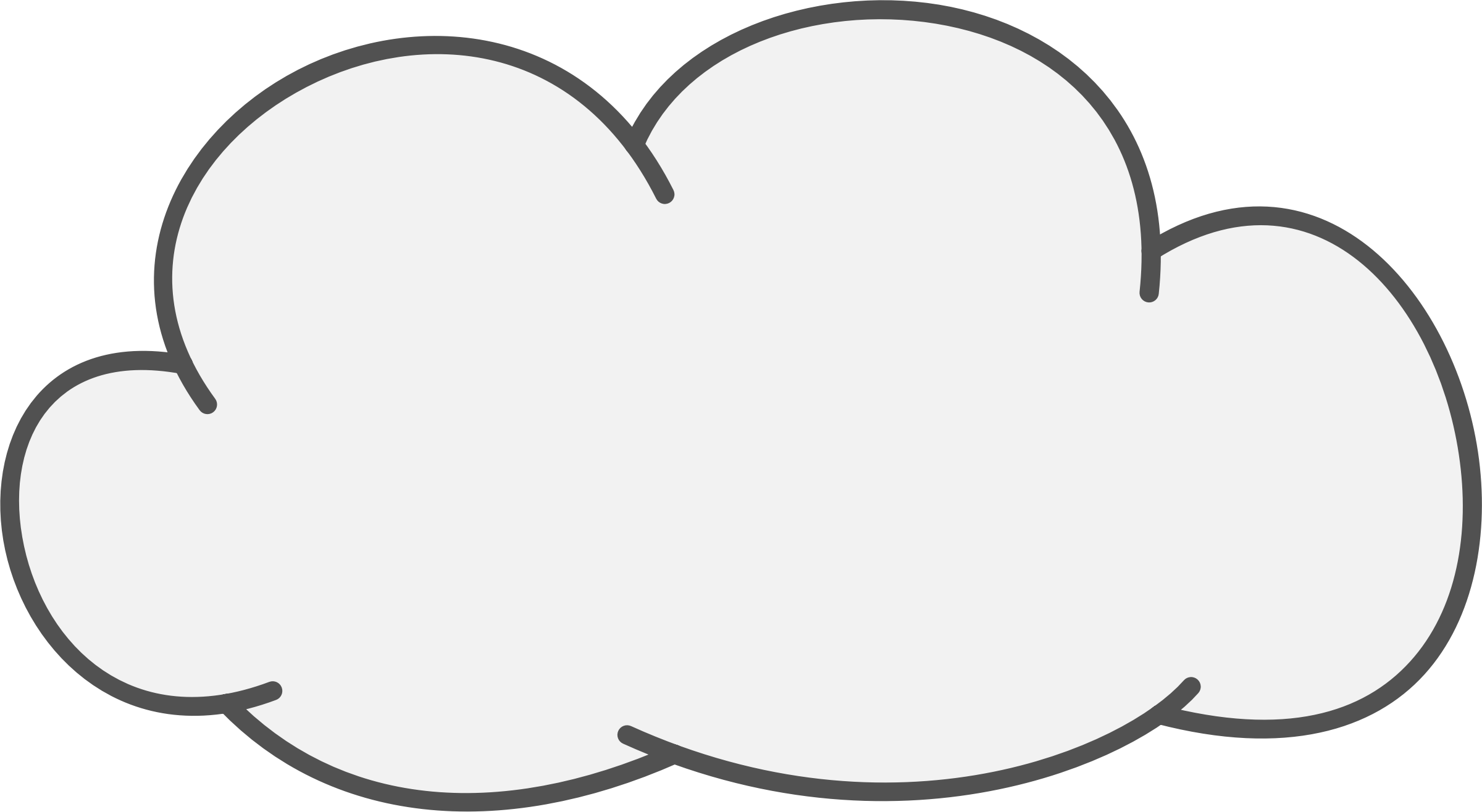 Cute free black and white cloud clipart