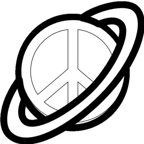 Monster image inside printable peace signs