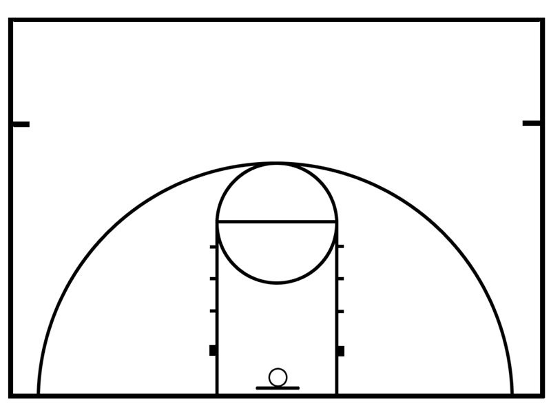 Clipart basketball court image