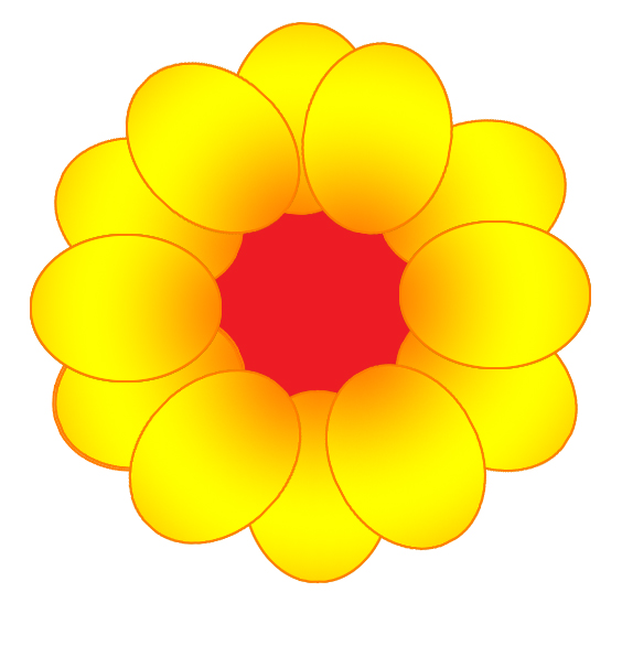 Yellow Flowers Drawings Clipart Best