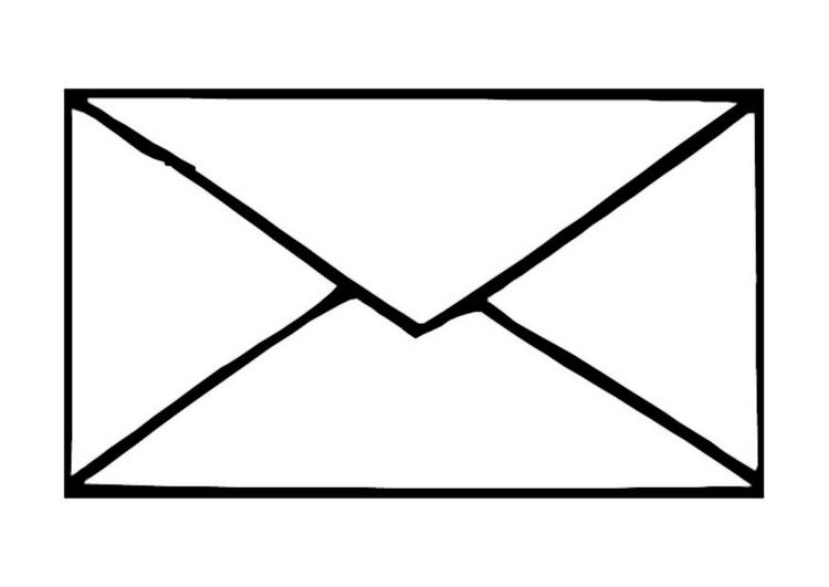 Line Art Letters : Drawing envelope clipart best