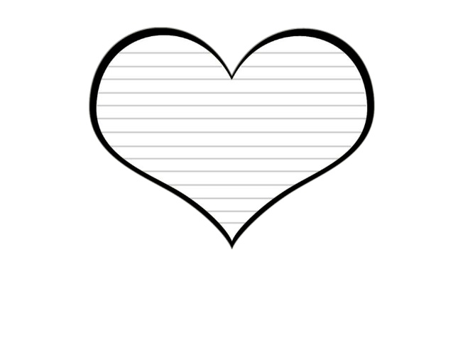 Heart Template With Lines - ClipArt Best