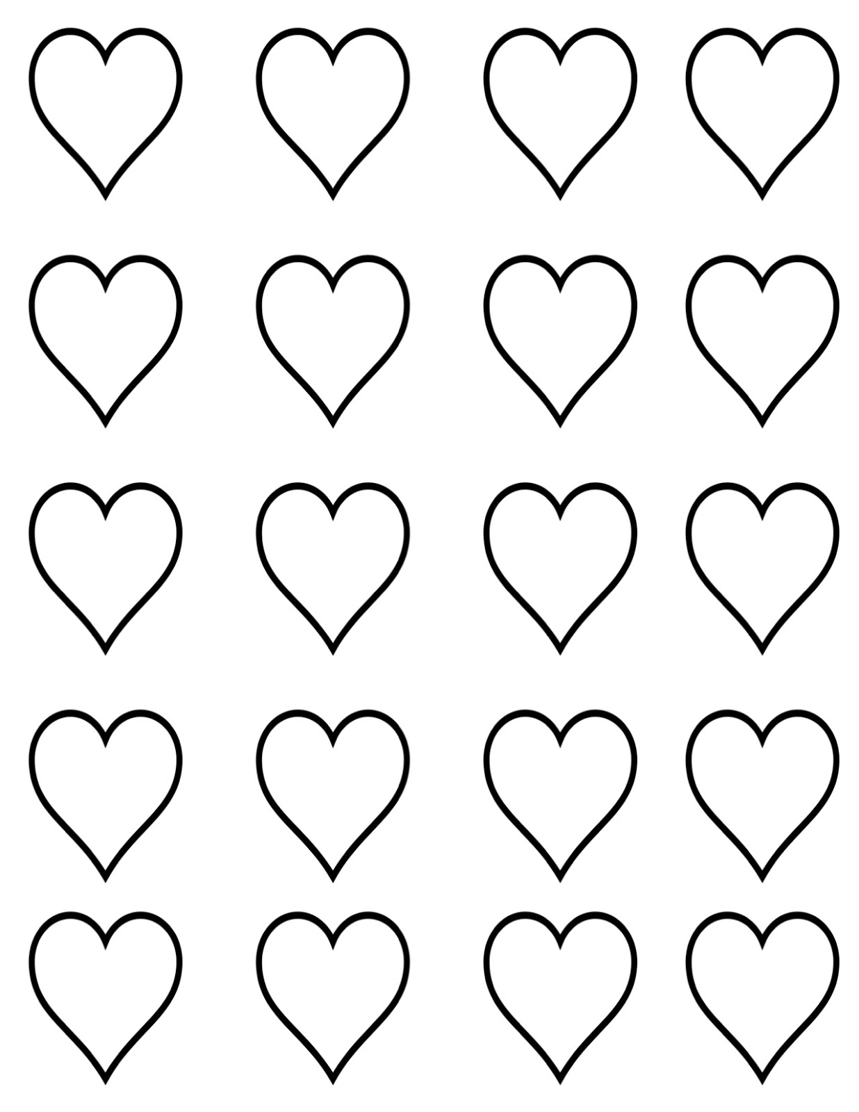 small heart template to print small heart template printable clipart best