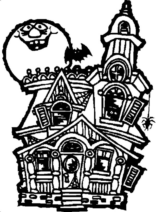 Haunted house drawing clipart best for Easy haunted house to draw
