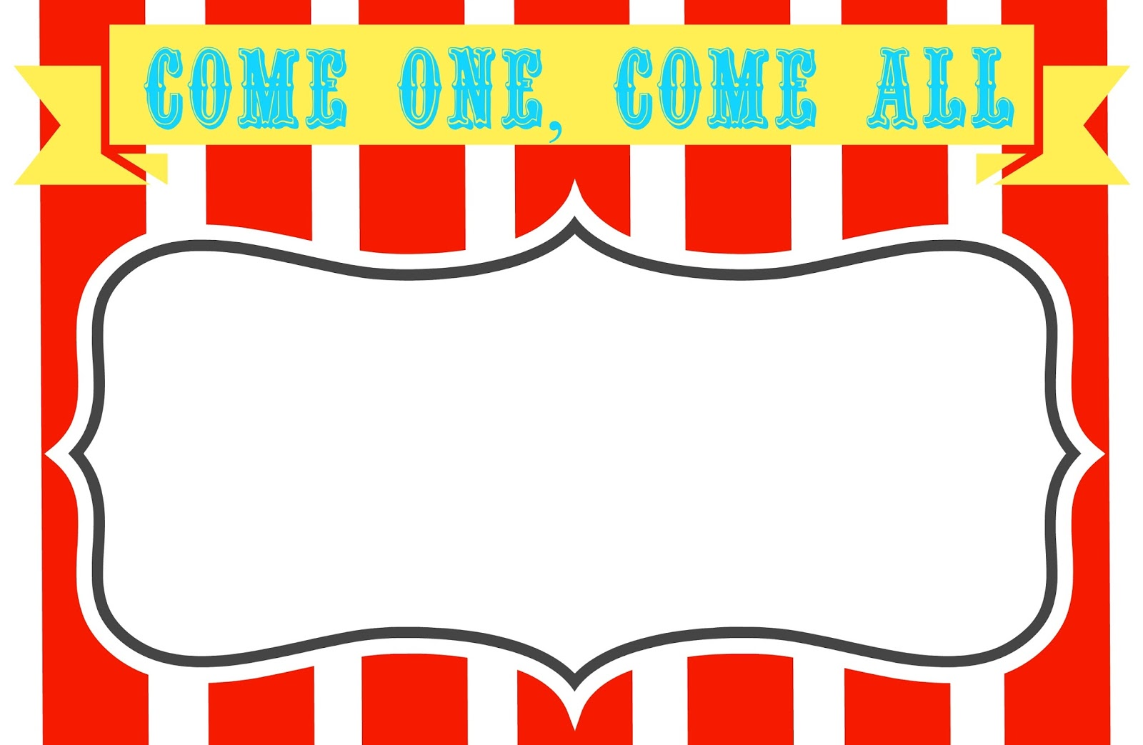 sign templates free downloads - carnival signs template clipart best