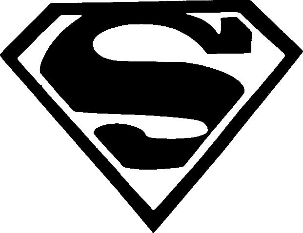 Superman Stencil For Cake
