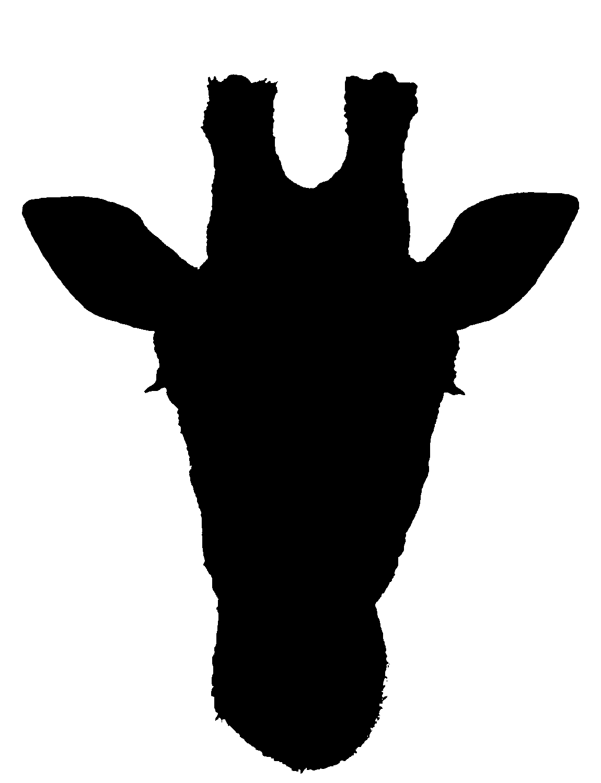 Giraffe Silhouette Giraffe Head Silhouette