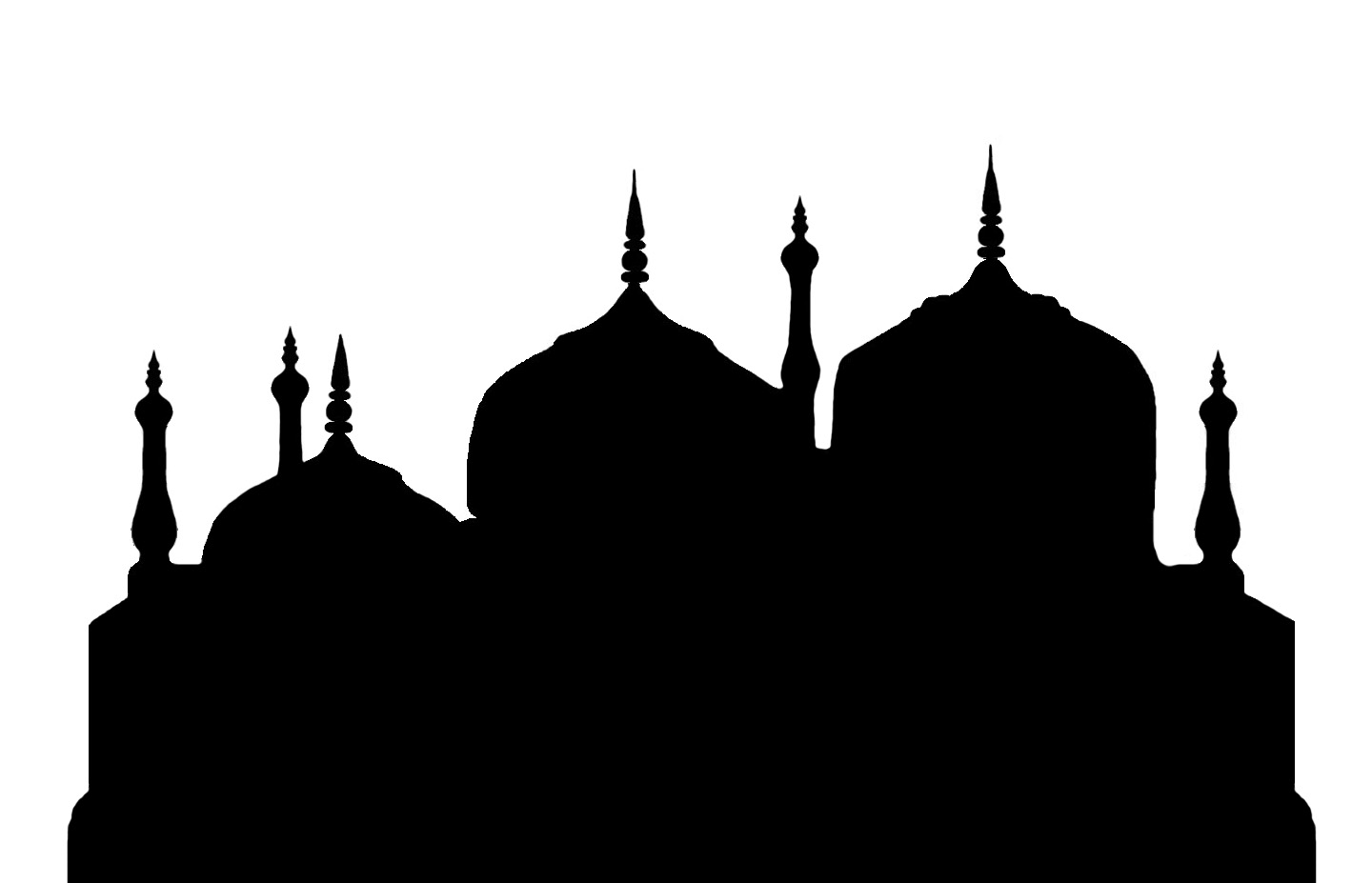 Masjid Black And White - ClipArt Best