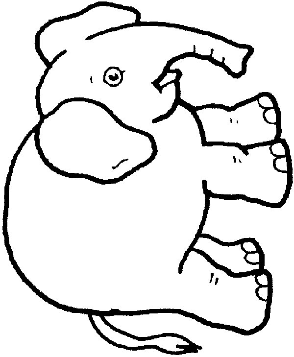 Line Drawing Elephant : Elephant line drawing clipart best