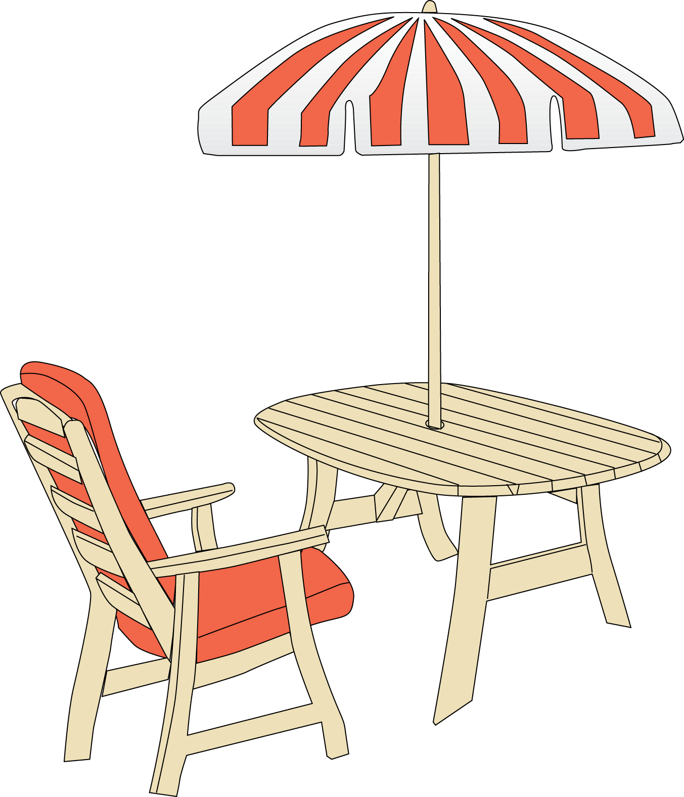 Patio umbrella clip art clipart best clipart best for Lawn chair with umbrella