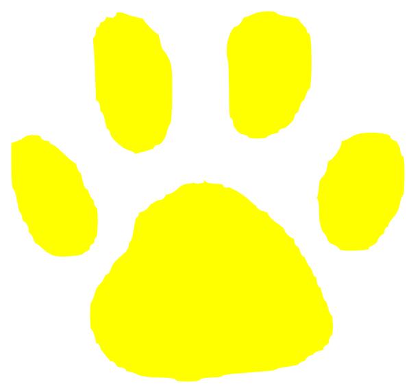 Tiger Paw Yellow Clip Art Vector Clip Art Online