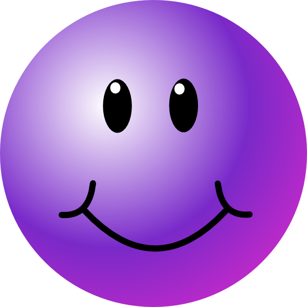 Purple Smiley Face clip art - vector clip art online, royalty free ...