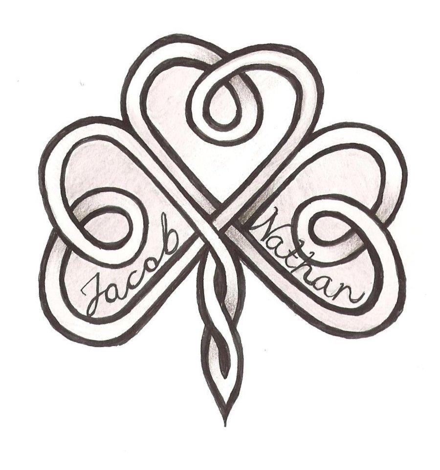 Celtic Cross With Shamrock Celtic cross with shamrock