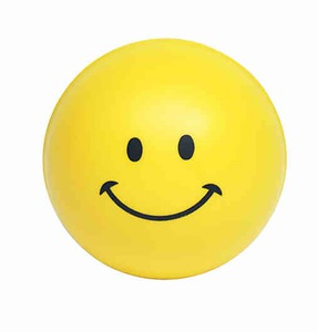 Smiley Face Stressball Squeezies, Custom Imprinted With Your Logo!