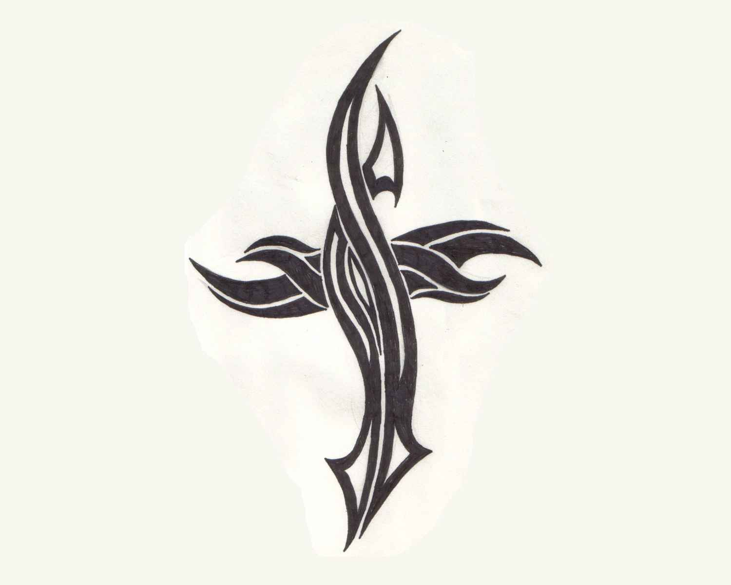 Simple tribal cross designs my site for Easy tribal tattoos