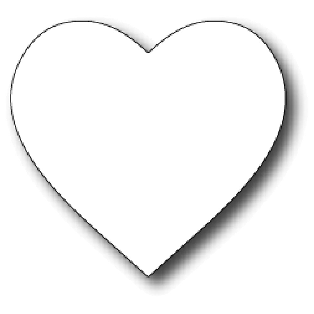 Small Heart Coloring Pages Clipart Best