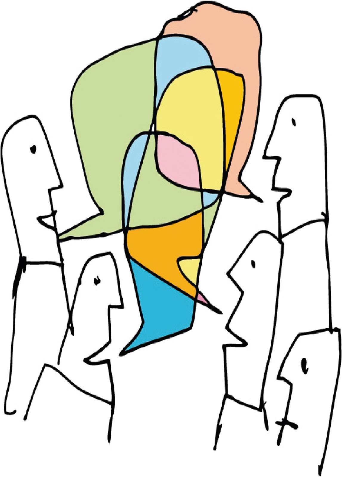 how to draw people talking to each other