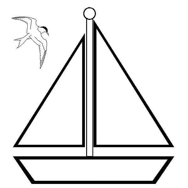 Sailboat Coloring Page - ClipArt Best