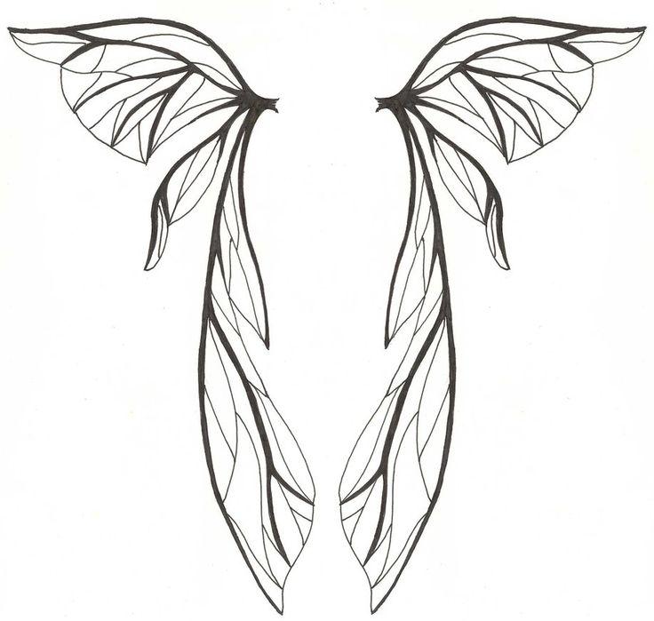 Line Art Wings : Angel wings lineart clipart best