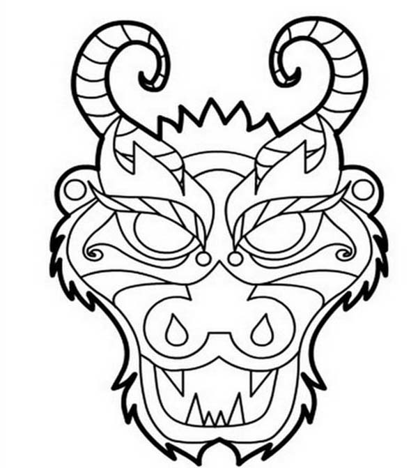 chinese dragon coloring pages chinese dragon netart for kids 20818 chinese dragon head - Chinese Dragon Head Coloring Pages