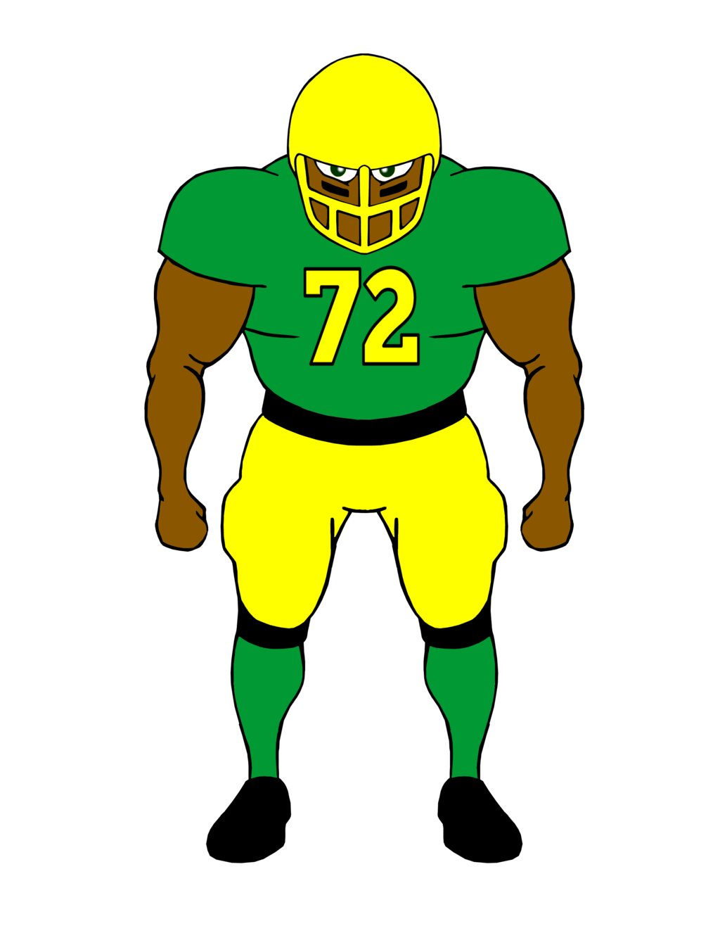 Clipart Of Football Players - ClipArt Best