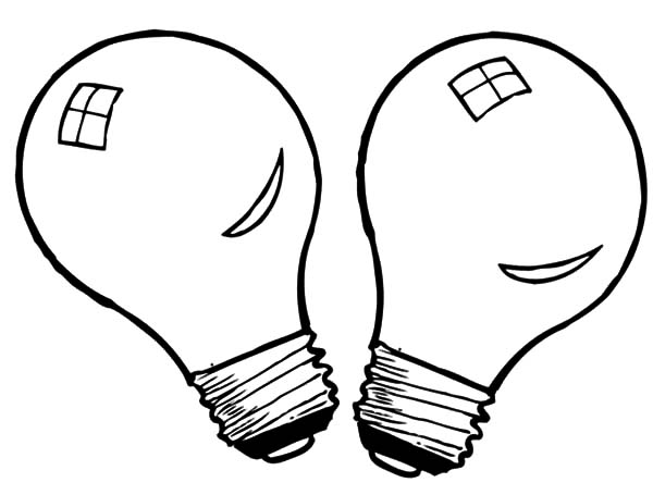 Light Bulb Coloring Sheet, coloring page of a black and white ...