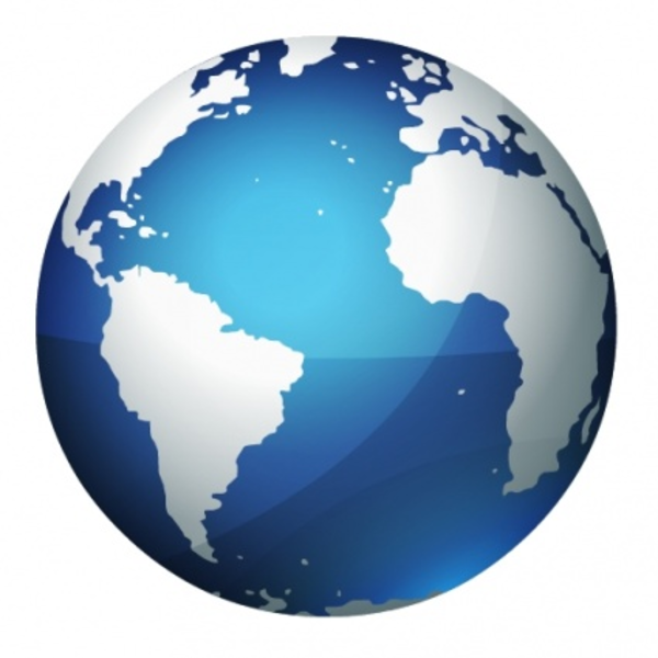 Globe vector icon png