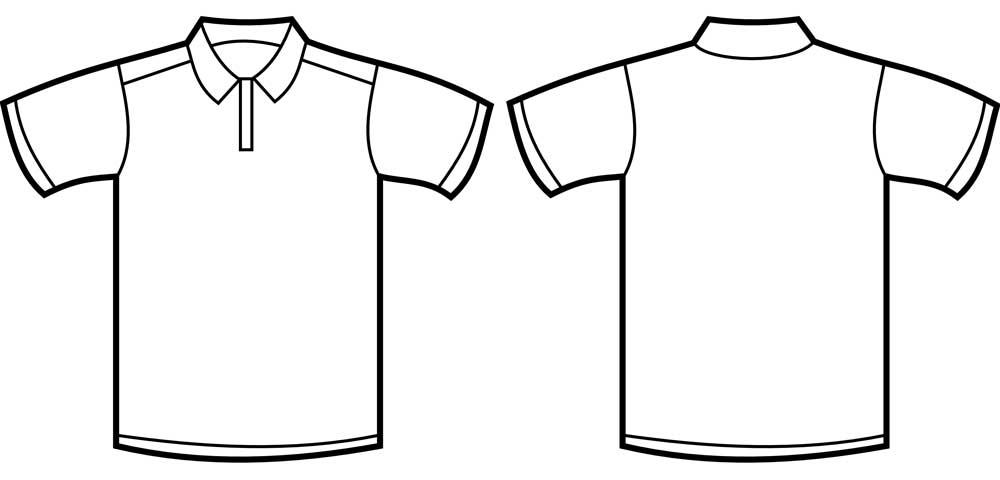 Desain Kaos Polos Hitam Putih