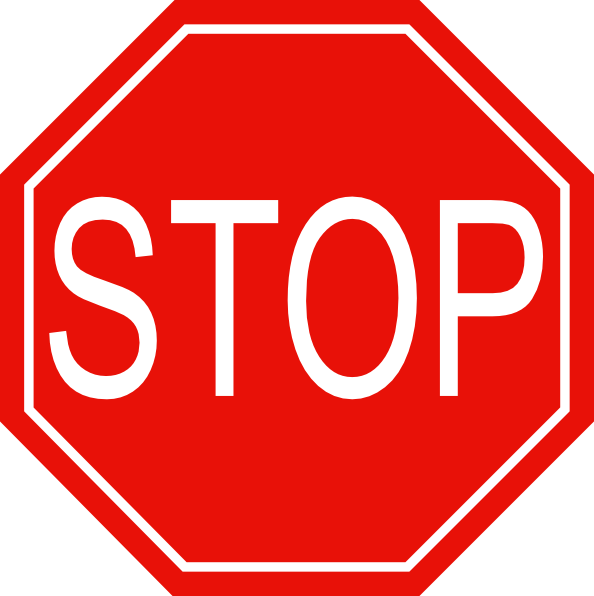 pictures of stop signs   clipart best
