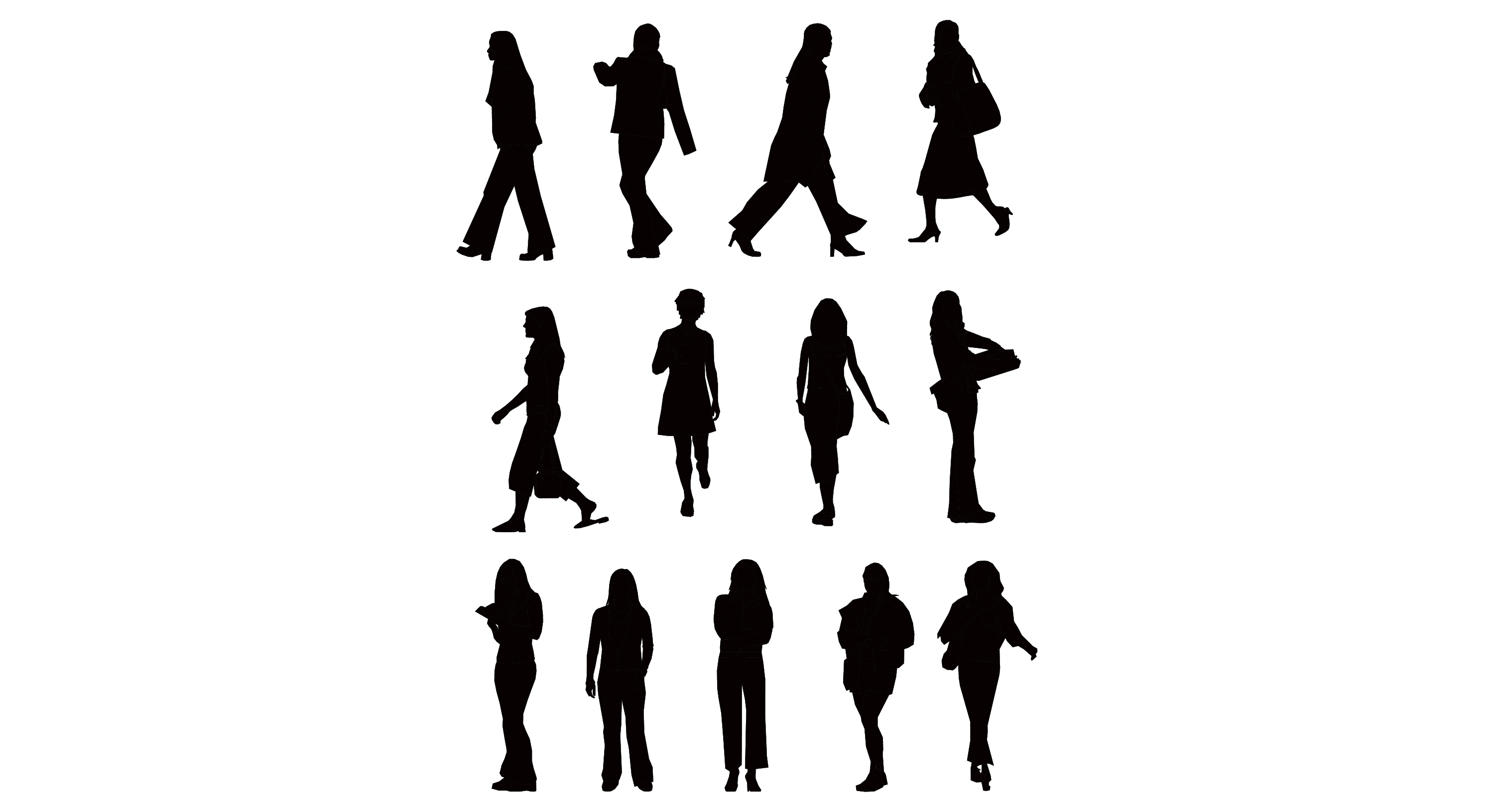 vector silhouette of people - photo #13