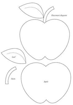 Apple template clipart best for Cookbook template mac