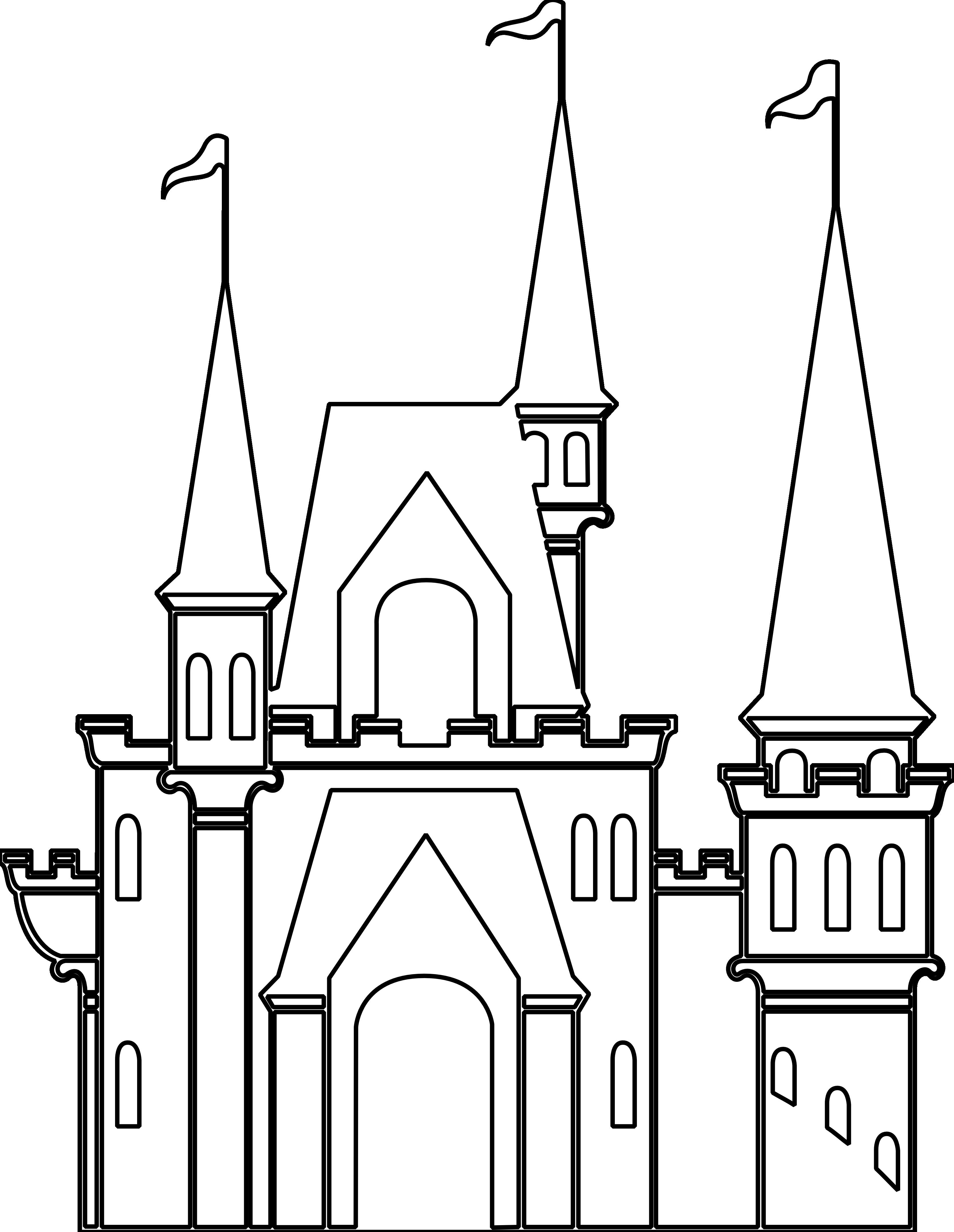 ArtFavor Castle 2 Black White Line Art Scalable
