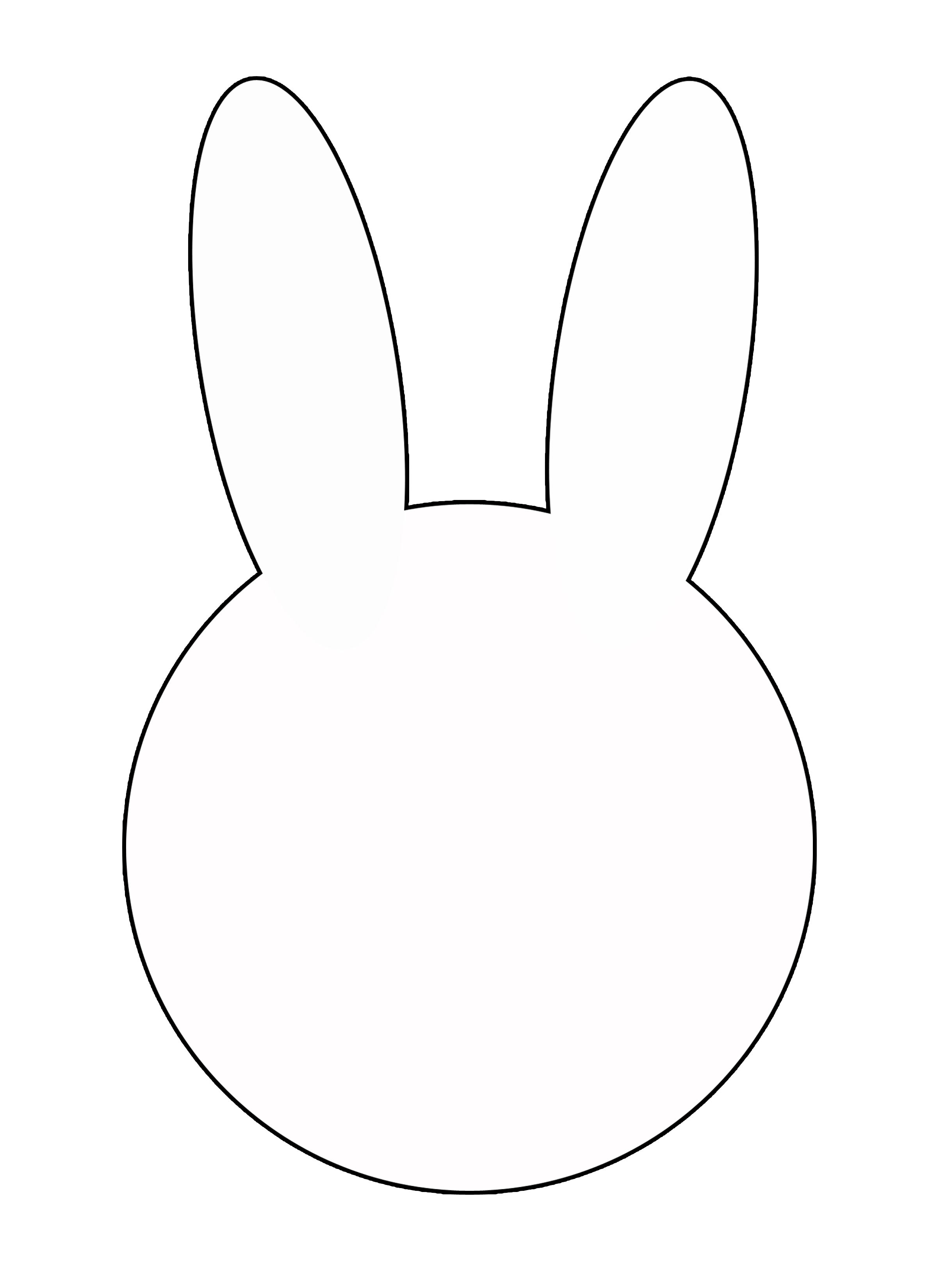 bunny face template printable the image kid has it. Black Bedroom Furniture Sets. Home Design Ideas