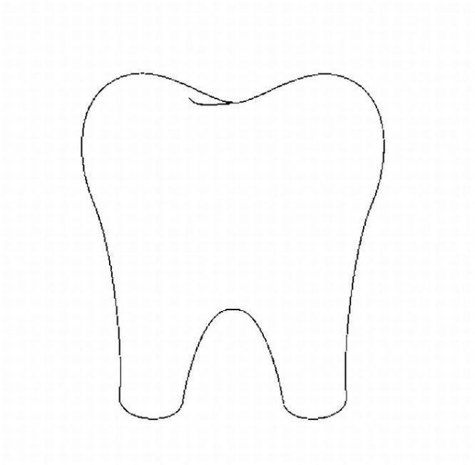 Tooth outline free clipart best for Coloring pages of teeth
