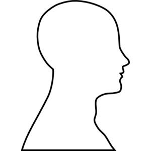 Blank human face outline - photo#16