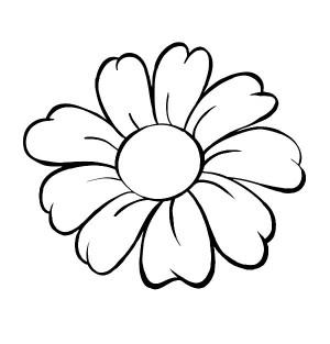 デイジー 花 6500002 also Flores Y Frasco further Thing in addition Outline Images Of Flowers furthermore Flamingo Coloring Pages 00367283. on daisy outline