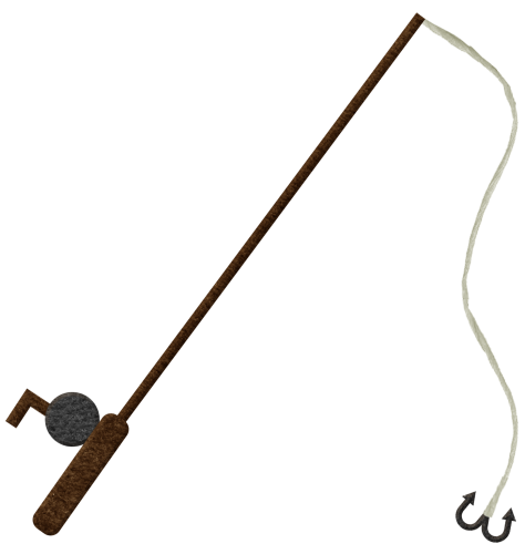 Fishing Rod Black And White - ClipArt Best